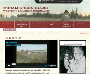 Web Exhibit Developer, <em>Miriam Green Ellis: Western Canadian Journalist </em>